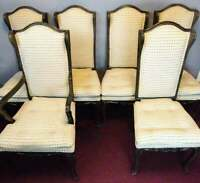 SET OF 6 VINTAGE FRENCH PROVINCIAL STYLE DINING ROOM CHAIRS