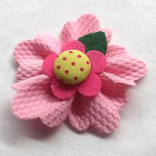 5/15/30/150PCS Large 6CM Padded Felt Ribbon Flowers Bow Appliques Decor Mix A463