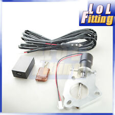 "2"" 51mm Electric Exhaust downpipe E-CUT Cutout Valve Motor +Remote Control"