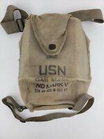 U.S. Navy USN ND Mark V Gas Mask & Canvas Bag, Vintage Cold War Military