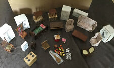 35+ Piece 1/12 Scale Vintage Dollhouse Furniture & Accessories Some Still NIB