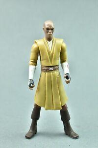 "Star Wars Clone Wars Mace Windu 2009 (Brown Pants) 3.75"" Hasbro"