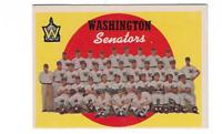 1959 Topps Baseball Card # 397  Washington Team (white back) EX - EXMINT