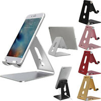 Desk Table Desktop Phone Stand Aluminum Holder For Cellphone Tablet Universal