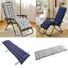Cotton soft Seat Pad Replacement Cushion Pad Garden Sun Lounger Recliner Chair 1