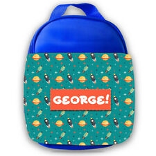 Personalised Kids Lunch Bag Any Name Space Design Childrens Boys School Snack 4