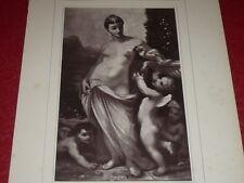 """[VINTAGE PHOTOGLYPTIE] DIAZ Peinture """"Vénus"""" GALERIE CONTEMPORAINE 1878 Barbizon"""