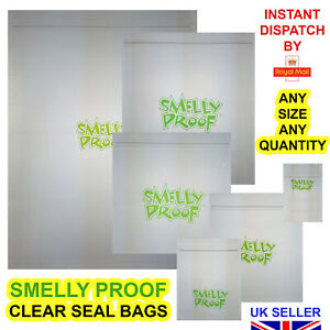 Smelly Proof Bags Smell Baggies All Size Clear Resealable Seal Food Bag Zip Seal