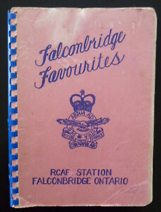 RCAF Station Falconbridge ON Cookbook 1955 Wives Assoc Royal Canadian Air Force