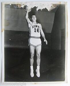 "Cliff Hagan Original St. Louis Hawks 8x10"" Glossy b/w Photograph (damaged) c1960"