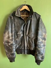 "Mens Vintage Schott worn look leather flying jacket chest 40/42"" gorgeous"