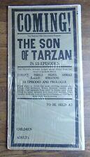 circa 1920 THE SON OF TARZAN Broadside - The National Film Corporation