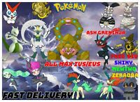 ALL ✨SHINY- Locked✨LEGENDARY 6IV / EV / Ash Greninja  Pokemon Home sword shield