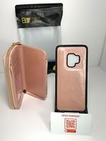 ELV Wallet Samsung Galaxy S9 [PU Leather] Detachable 2in1 Folio Purse Pink Case