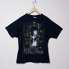 Avenged Sevenfold Nightmare 2010 Tour T-Shirt Size L Band Shirt Black tshirt