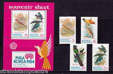 Indonesia - 1984 Birds - U/M - SG 1765-8 + MS1769