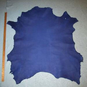 Big Blue Pebble Print Sheepskin Leather Hide Bookbinding Bible Journal