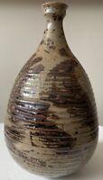 Vintage 70s Stoneware Ceramic Studio Pottery Vase Deyoe Frith Mid Century Modern