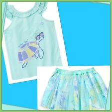 NWT 2T Gymboree TIDE POOL 2pc Turtle TANK TOP & Floral SKIRT. .  Rare!!