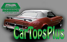1971-73 Ford Mustang/Cougar Convertible Top & Glass Window, White Vinyl