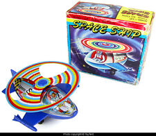 Space Ship helicopter wind-up w/ turn action MTU Korea No. HR-638 + original box