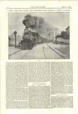 1895 NEW YORK NEW HAVEN HARTFORD treno attraversamento di segnalazione
