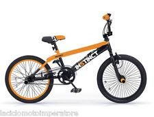 BICICLETTA 20 BMX INSTINCT MBM BICI FREESTYLE ARANCIO ELETTRICO E NERO BIKE