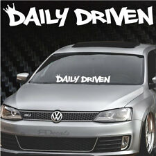 """Daily Driven Crown Windshield Banner Decal / Sticker 5x33"""" tuner jdm boost funny"""