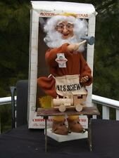 "HTF Telco Motionette 21"" Santa Claus Elf w Workbench Hammer Train Animated Box"