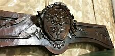 18th medaillon flower wood carving pediment Antique french architectural salvage