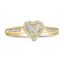 2.00Ct Round Cut Hearts Diamond Solitaire Engagement Ring 14k Yellow Gold Over