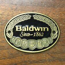 Baldwin Since 1862 Piano Metal Plate/Cabinet Medallion/Decal Black/Bronze