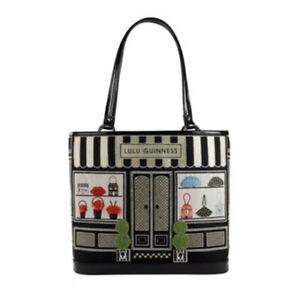 Lulu Guinness Medium Shop Front Edith Bag full of iconic treasures