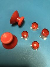 XBOX ONE 1 CUST MOD ABXY W/LETTERS REPLACEMENT BUTTON/JOYSTICK SET KIT (RED)