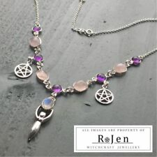 Rose Quartz Natural Amethyst Fine Necklaces & Pendants