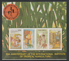 Nigeria (293) 1992 Tropical Agriculture IMPERF m/sheet unmounted mint