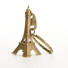 1X Bronze Tone Paris Eiffel Tower Figurine Statue Alloy Model Decor 5CM LWC