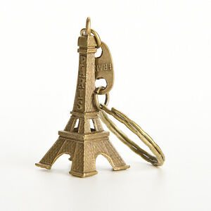 1X Bronze Tone Paris Eiffel Tower Figurine Statue Alloy Model Decor 5CM ^dJC_cd