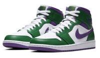 In Hand Nike Air Jordan 1 Mid SE Incredible Hulk 554724-300 Mens Free Shipping