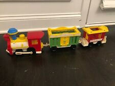 vintage fisher price little people circus train