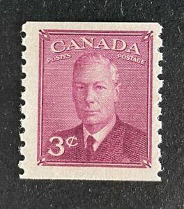 Canadian Stamp, Scott #299 3c King George VI Coil stamp 1950 VF M/NH