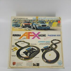 Vintage Aurora 1970's AFX Slot Car Race Track Phoenix 500 INCOMPLETE READ WORKS