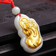 Authentic Grade A Jadeite with 999 Gold Pixiu Pendant with Certificate