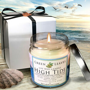 Soy Candle, Handmade, High Tide 4oz., Highly Scented AMAZING Fragrance!
