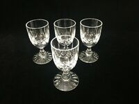 "4 Edinburgh Cut Crystal Scotland Appin Liqueur Glasses, 3 3/8"" Tall x 1 1/2"" Dia"
