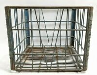 1958 New Era Metal Wire Dairy Milk Carrying Crate 13x13x11in Industrial Farm