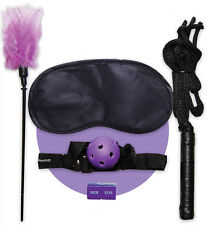 Blindfold feather tickle gag kit