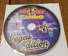 Monopoly Casino: Vegas Edition (PC, 2001) Window Game No Box (A)