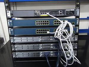 Cisco Ccna Ccnp Sécurité Lab Kit 3 X 2811 2 X C3560V2 Ios 15 ASA5510 12U Rack