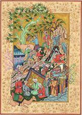 Persian Miniature Painting Rare Muzaffar Ali Haft Awrang Jami Handpainted Art